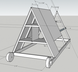 Skeleton of chicken tractor in sketchup